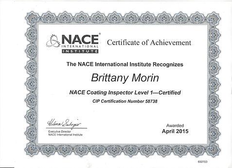 Nace certification