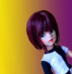 Pedigree Sindy custom in Black Grape by Melanie@Retro Dolls UK