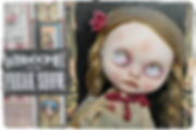 Custom Blythe by Helen Clennel White using Retro Dolls UK Blythe eyechips
