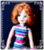 Pedigree Sindy reroot in Fiery Auburn Kanekalon by Melanie@Retro Dolls UK