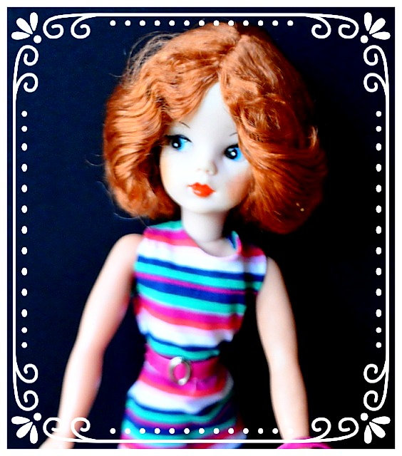 Pedigree Sindy reroot in Fiery Auburn Kanekalon by Melanie@Retro Dolls UK