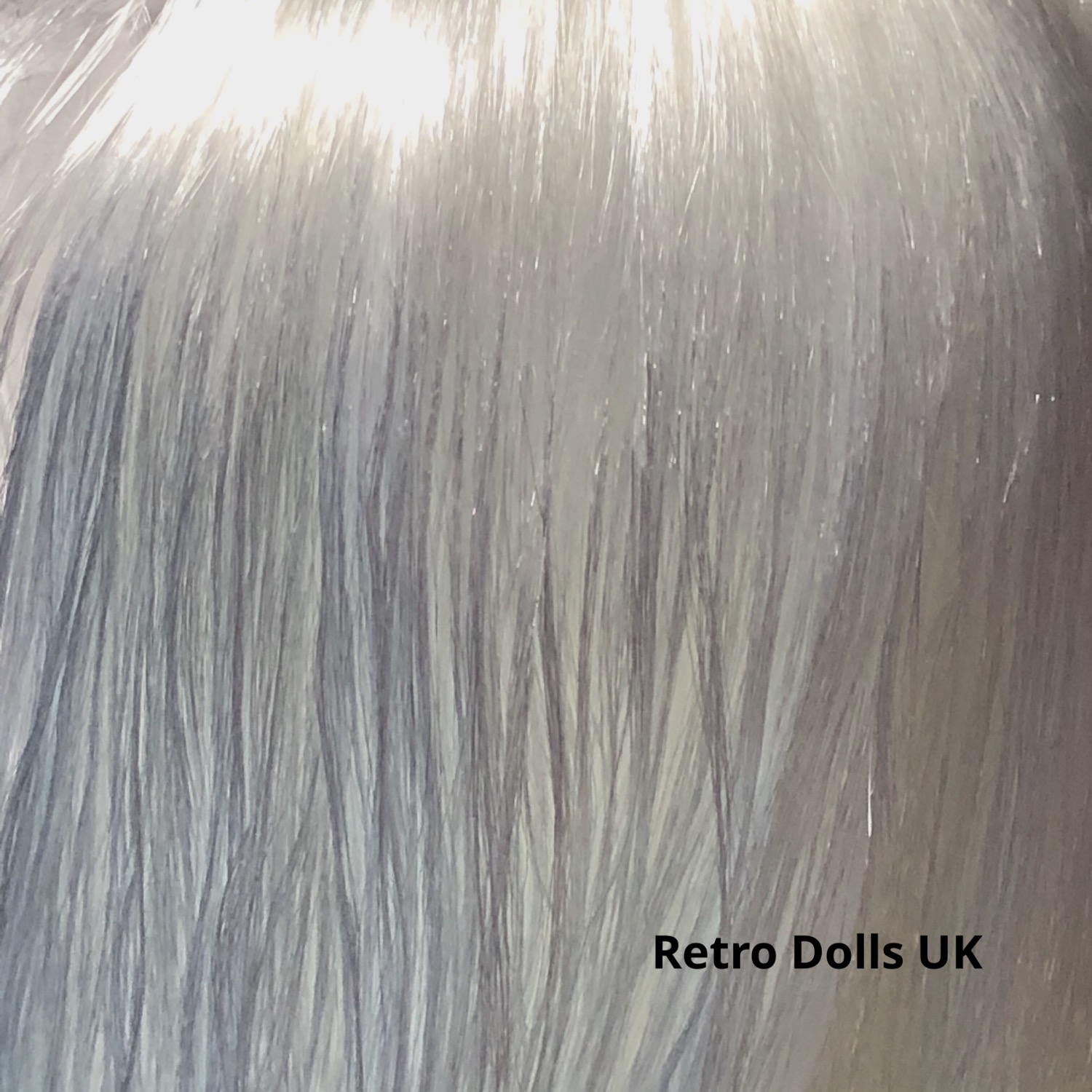 Metallic White Nylon doll hair from The Doll Hair Emporium