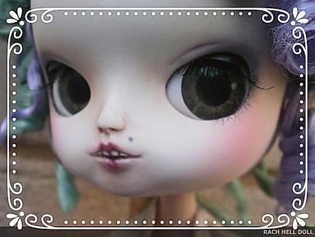 Custom Pullip by Rachel Hell House using RetReo Dolls UK Pullip eyechips