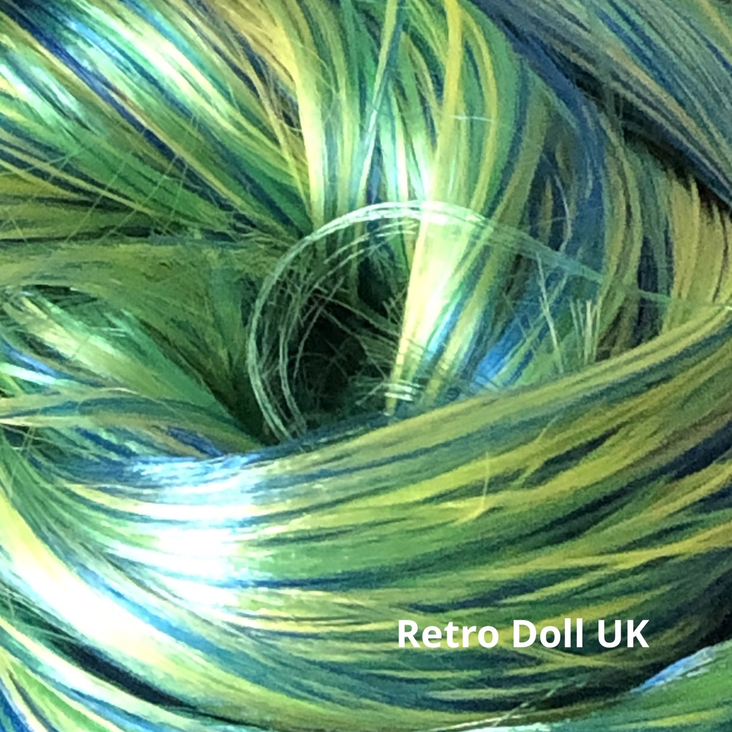 Retro Dolls UK Nylon doll hair for rerooting and customising dolls and My Little Pony