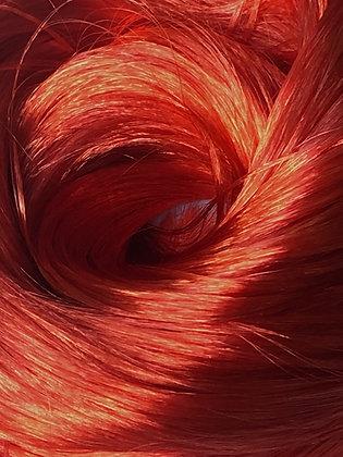 The Doll Hair Emporium Kiwi metallic red Nylon doll hair for rerooting