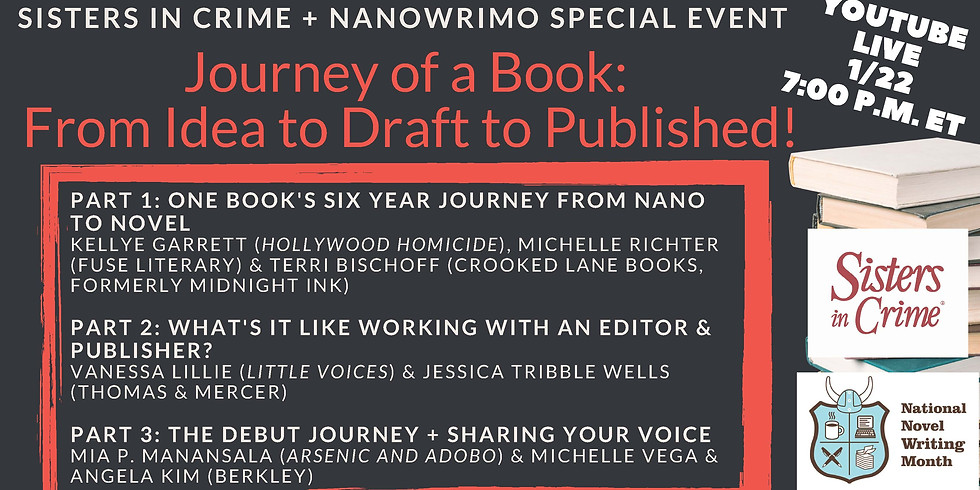From NaNo Novel to Published Book (With Sisters in Crime)