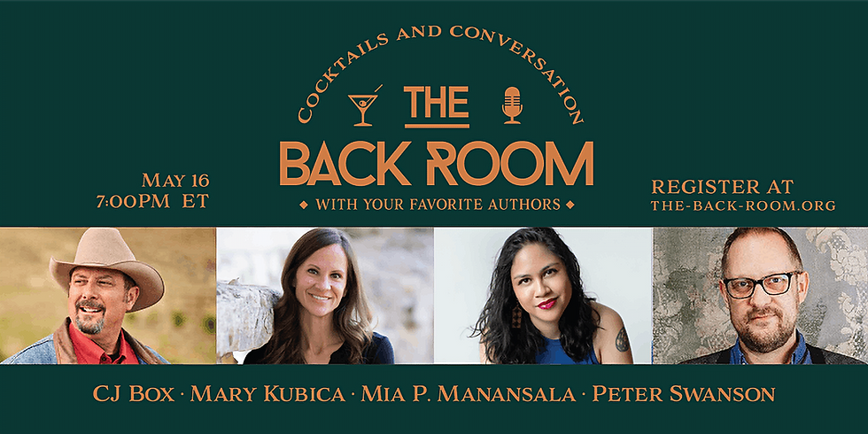 The Back Room: Cocktails & Conversation With Your Favorite Authors