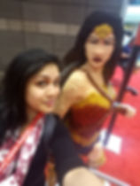 Chillin with Wonder Woman at C2E2