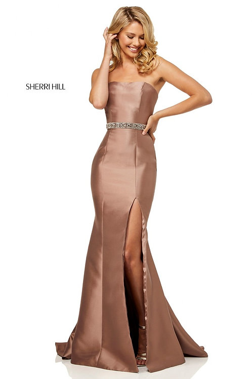 Sherri Hill - 52541 Mocha Size 10