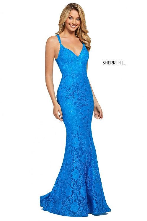 Sherri Hill - 53363 Peacock Size 14