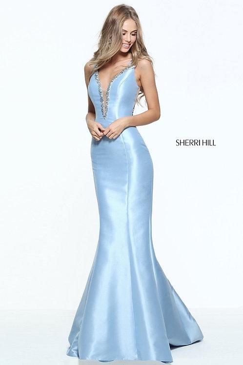 Sherri Hill - 50994 Light Blue Size 10