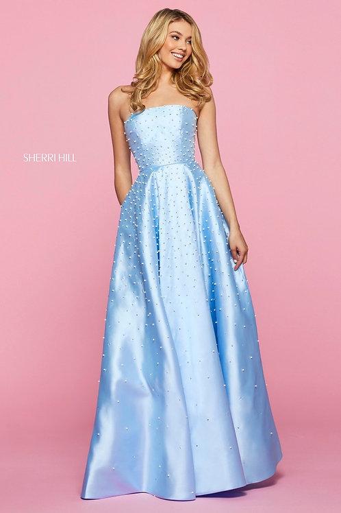 Sherri Hill - 53421 Light Blue Size 8