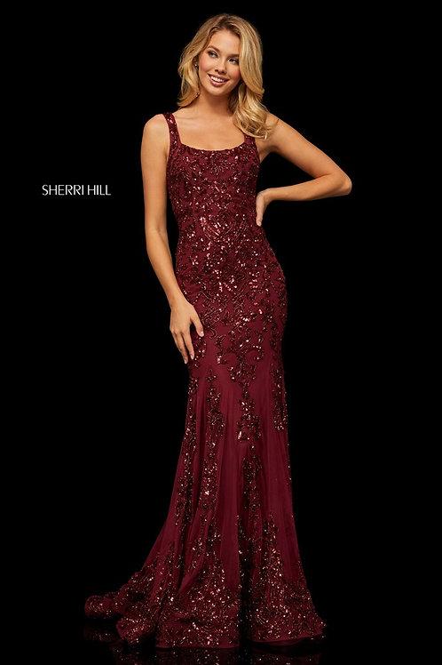 Sherri Hill - 52925 Burgundy Size 4