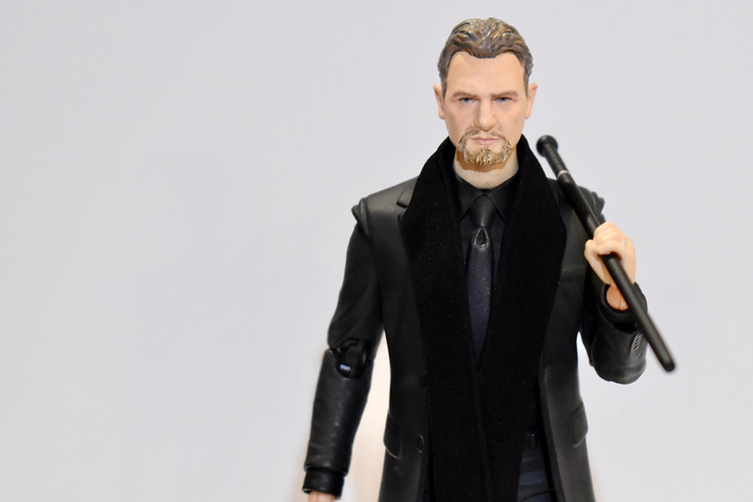 Handmade Cane and Wired Scarf for custom MAFEX Ra's al Ghul