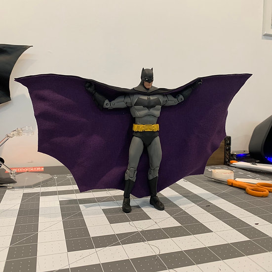 Black and Purple Wired Cape