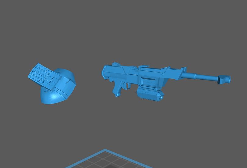 Clone Commando Sev - Shoulder & Rifle