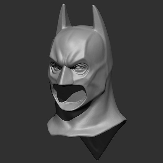 PROJECT FUNDING - 1:6 Batman Begins Cowl with swappable chins