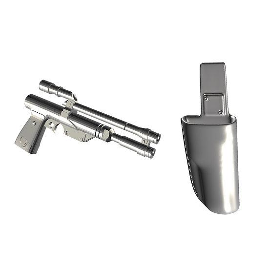 1:12 Boba Fett Rearmored Pistol and Holster