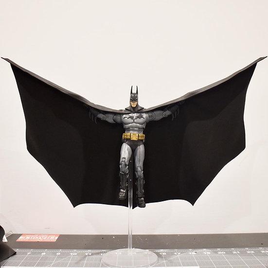 "Black Faux Leather Wired Cape - Batman 7"""