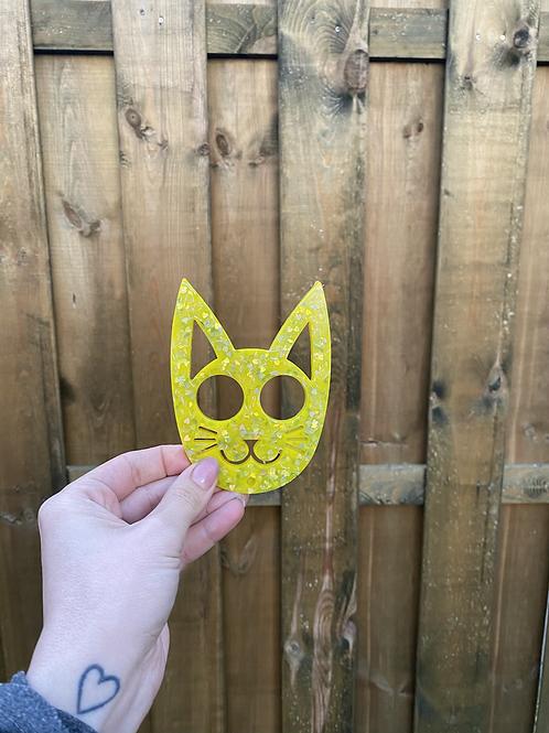 Glitter kat sleutelhanger