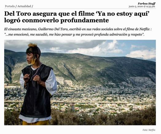 Del Toro asegura que el filme 'Ya no estoy aquí' logró conmoverlo profundamente