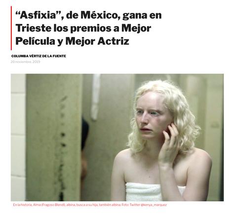 """""""Asfixia"""", de México, gana en Trieste los premios a Mejor Película y Mejor Actriz"""