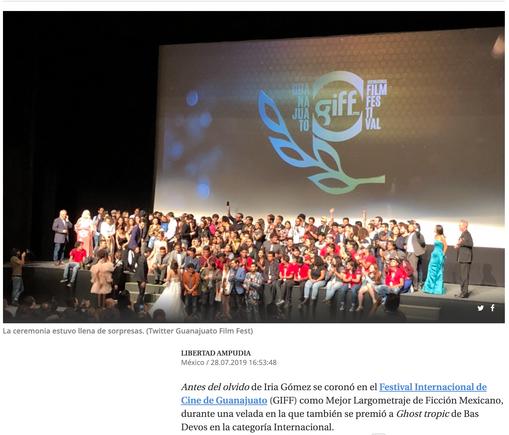 Así se vivió la clausura del Festival de Cine de Guanajuato