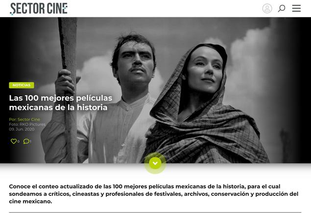 Las 100 mejores películas mexicanas de la historia
