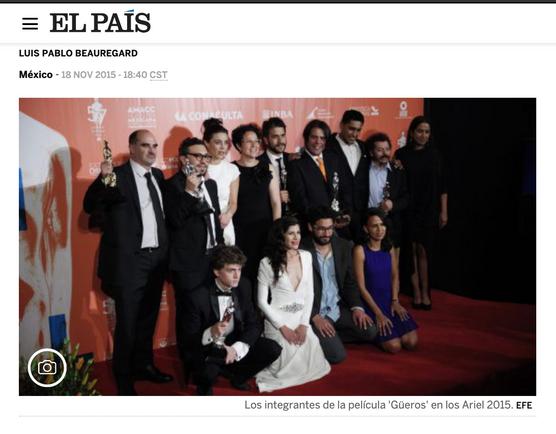 'Güeros' triunfa en los premios Ariel
