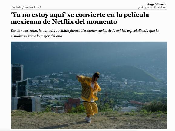 'Ya no estoy aquí' se convierte en la película mexicana de Netflix del momento
