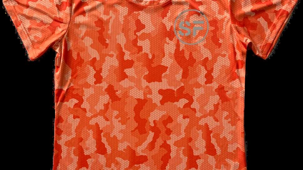 SinFit Orange Camo Tri Dry T Shirt