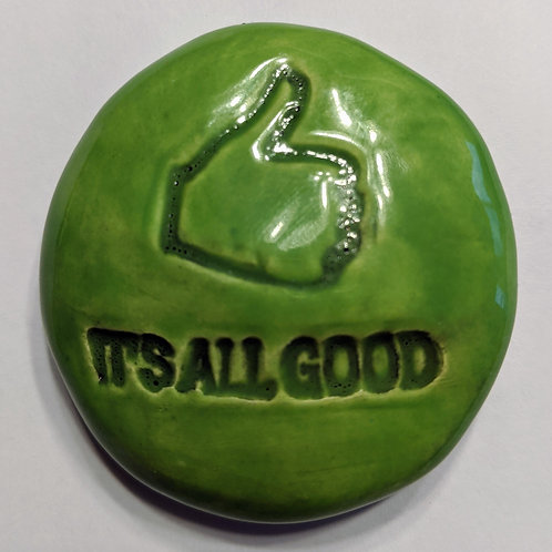 IT'S ALL GOOD Pocket Stone - Leaf Green