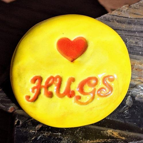 HUGS Pocket Stone - Sun Yellow