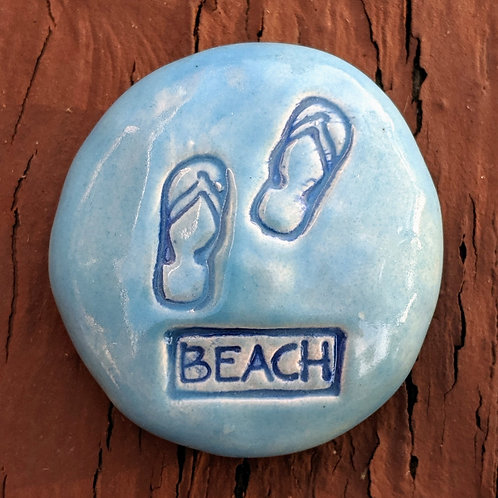 BEACH FLIP FLOPS Pocket Stone - Sky Blue