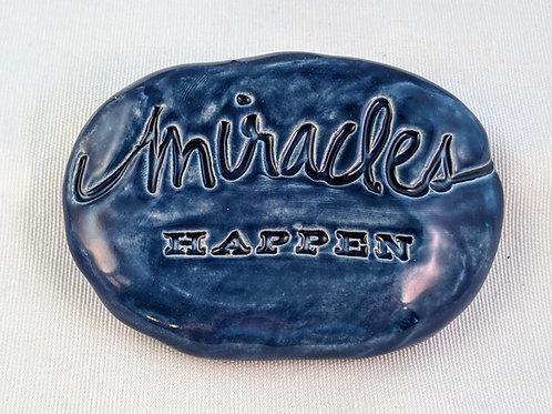 MIRACLES HAPPEN Garden Stone - Midnight Blue