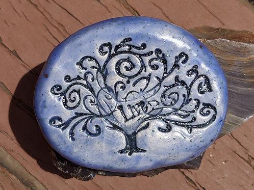 TREE of LIFE w/ LIVE Pocket Stone - Ocean Mist