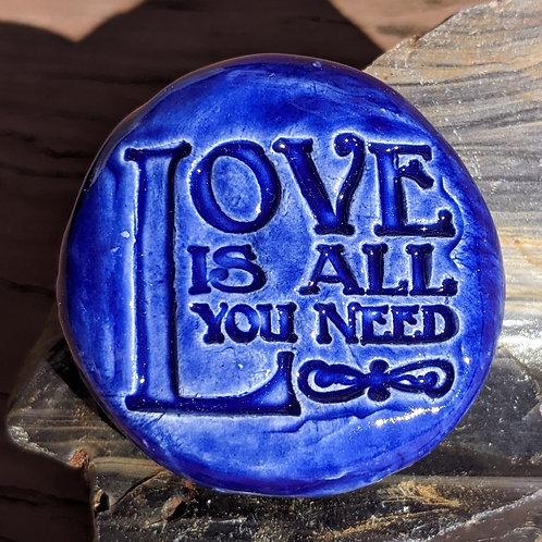LOVE IS ALL YOU NEED Pocket Stone - Midnight Blue