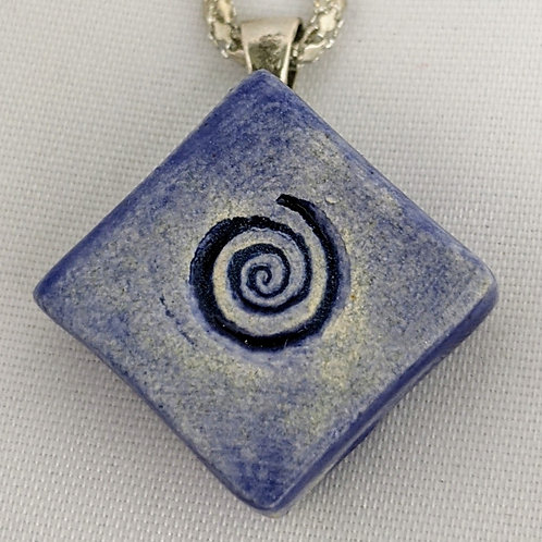 SPIRAL Pendant / Necklace ~ Exotic Blue