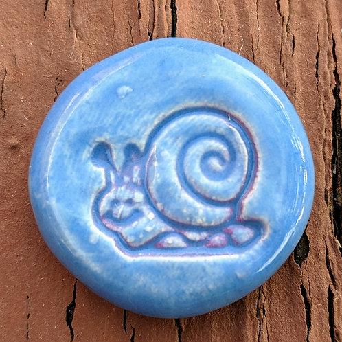 SNAIL FAIRY GARDEN Stepping Stones - Bluebonnet