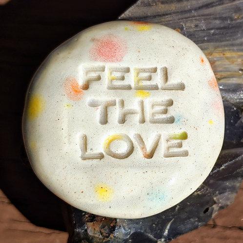 FEEL THE LOVE Pocket Stone - Kaleidoscope
