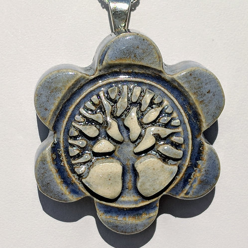 TREE OF LIFE Pendant - Antique Blue