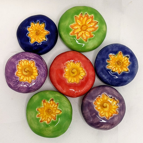 SUNFLOWER COLLECTION Pocket Stones - Hand-Painted