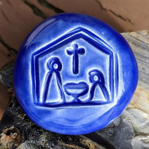 NATIVITY Pocket Stone - Vivid Blue