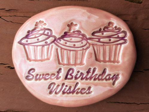 SWEET BIRTHDAY WISHES Pocket Stone - Petal Pink