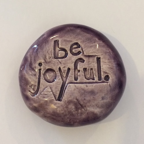 BE JOYFUL Pocket Stone - Purple