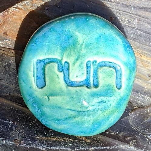 RUN Pocket Stone - Aquamarine