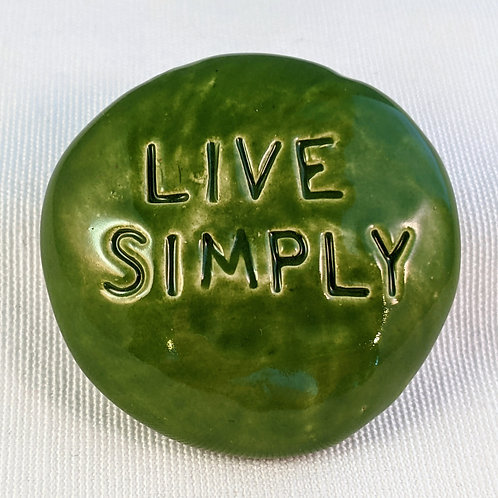 LIVE SIMPLY Pocket Stone - Emerald Green