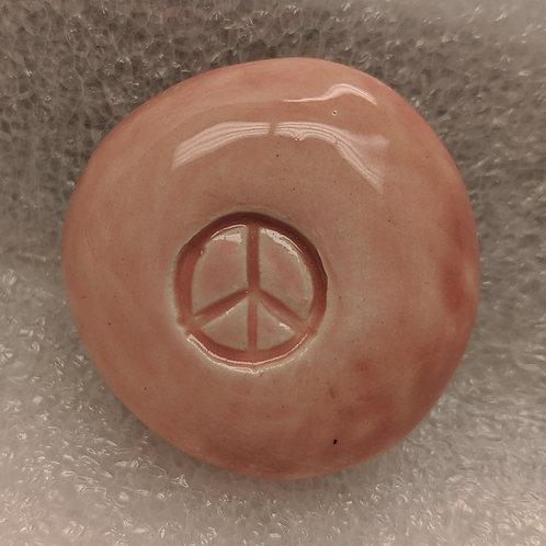 PEACE SIGN Pocket Stone - Petal Pink