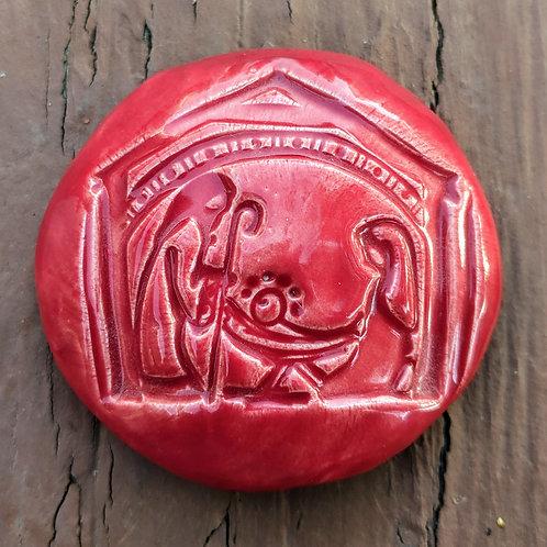 NATIVITY Pocket Stone - Fire Engine Red