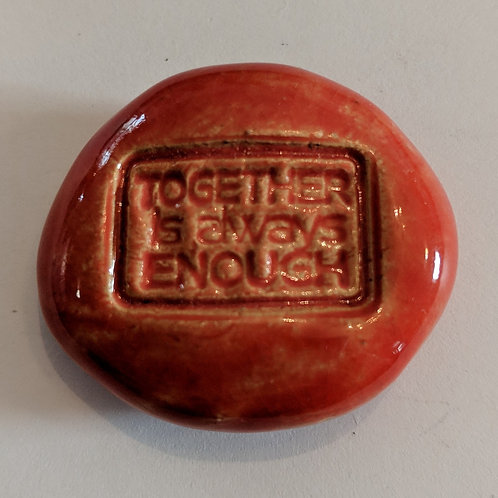 TOGETHER IS ALWAYS ENOUGH Pocket Stone - Sunset Red